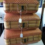 "Vintage Wicker Luggage.  There are 3 different sizes.  Small 15""l x 10.5""w x 7""h, medium 16""l x 12""w x 7""h, & large 18""l x 15""w x 7""h.  Pre-owned & in excellent condition.  $25.00, $35.00, and $45.00 obo"