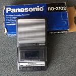 Panasonic Portable Cassette Recorder.  Model #RQ-2102 Slim Line.  Pre-owned & in excellent condition, includes box.  $32.00 obo