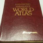 Book:  Hammond Ambassador World Atlas.  Has Snap-on Tools in gold and signed by Division President.  Pre-owned & in great condition, has some mildew smell.  $20.00 obo