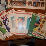 24 Vintage Chicago Cubs Official Home Programs for sale.  They range in date from 1969, 1971-1976, 1979, & 1982.  The programs are in good to great condition and many have the score cards filled out.  We are asking $4.00 each firm or $90.00 obo for the whole lot of 24.