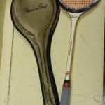 Vintage Bancroft Racquet with Slazenger Phatom Gold Case.  Racquet is genuine bamboo.  Pre-owned & in excellent condition.  $20.00 obo